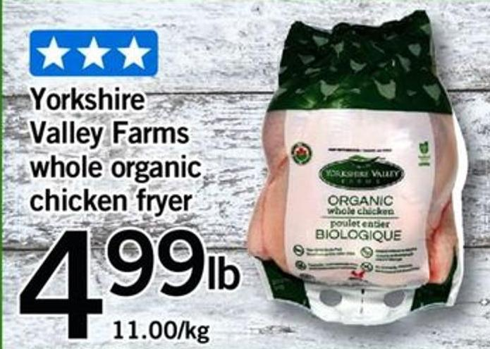 Yorkshire Valley Farms Whole Organic Chicken Fryer