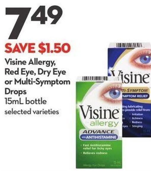 Visine Allergy - Red Eye - Dry Eye or Multi-symptom Drops