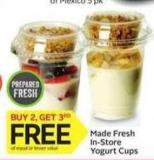 Made Fresh In-store Yogurt Cups