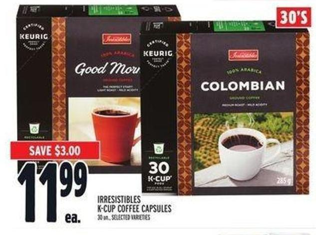 Irresistibles K-cup Coffee Capsules