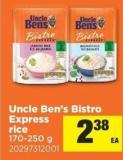 Uncle Ben's Bistro Express Rice 170-250 G
