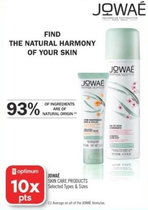 Jowaé Skin Care Products