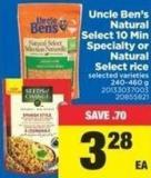 Uncle Ben's Natural Select 10 Min Specialty or Natural Select Rice - 240-460 g