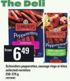 Schneiders Pepperettes - Sausage Rings Or Bites - 250-375 g