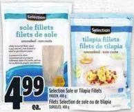 Selection Sole or Tilapia Fillets