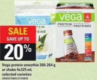 Vega Protein Smoothie 260-264 G Or Shake 4x325 Ml
