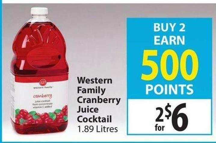 Cranberry Juice Slow Juicer : Western Family Cranberry Juice on sale Salewhale.ca