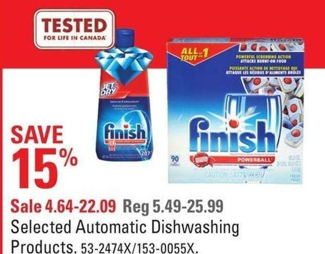 Selected Automatic Dishwashing Products