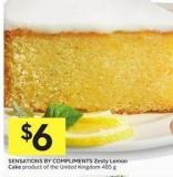 Sensations By Compliments Zesty Lemon Cake Product of The United Kingdom 485 g