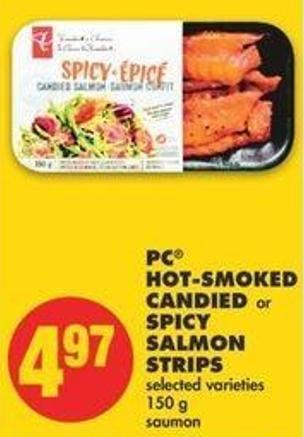 PC Hot-smoked Candied Or Spicy Salmon Strips - 150 G