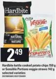 Hardbite Kettle Cooked Potato Chips - 150 G Or Sensible Portions Veggie Straws 142 G
