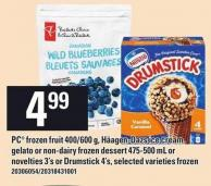 PC Frozen Fruit 400/600 g - Häagen-dazs Ice Cream - Gelato Or Non-dairy Frozen Dessert 475-500 mL Or Novelties 3's Or Drumstick 4's