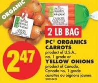 PC Organics Carrots or Yellow Onions