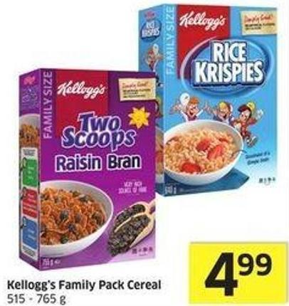 Kellogg's Family Pack Cereal 515 - 765 g