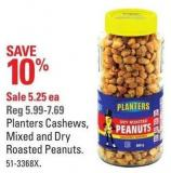 Planters Cashews - Mixed and Dry Roasted Peanuts