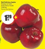 Red Delicious Apples Product of USA Extra Fancy Grade 2.84/kg