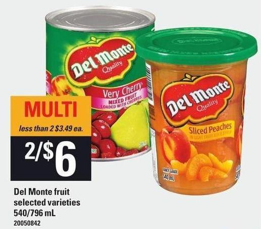 Del Monte Fruit - 540/796 mL