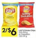 Lay's Potato Chips 235-255 g or Poppables 130-141 g