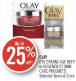Olay Eye Cream - Age Defy or Regenerist Skin Care Products