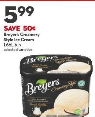 Breyer's Creamery Style Ice Cream