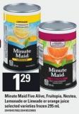 Minute Maid Five Alive - Fruitopia - Nestea - Lemonade Or Limeade Or Orange Juice - 295 mL