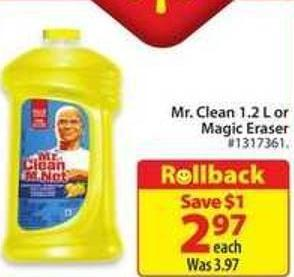 Mr. Clean Summer 1.2 L. or Magic Eraser