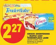 Gonna Crisco Shortening or Maple Leaf Tenderflake Lard - 454 g
