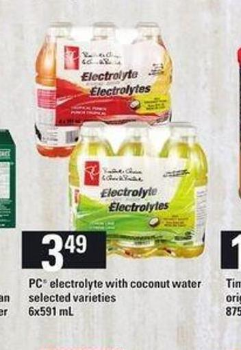 PC Electrolyte With Coconut Water - 6x591 mL