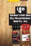 Club House La Grille Spices - 120 G–248 g And Club House Blends - 111 g – 144 g