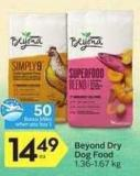 Beyond Dry Dog Food - 50 Air Miles Bonus Miles