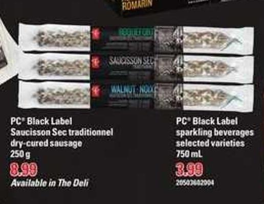 PC Black Label Saucisson Sec Traditionnel Dry-cured Sausage - 250 g