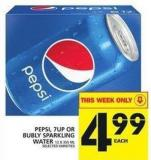 Pepsi - 7up Or Bubly Sparkling Water