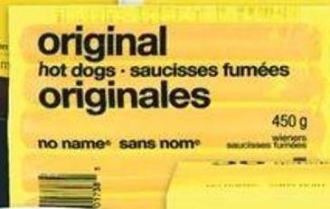 No Name Original Wieners - 450 G