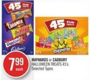 Maynards or Cadbury Halloween Treats 45's
