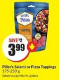 Piller's Salami or Pizza Toppings 175-250 g