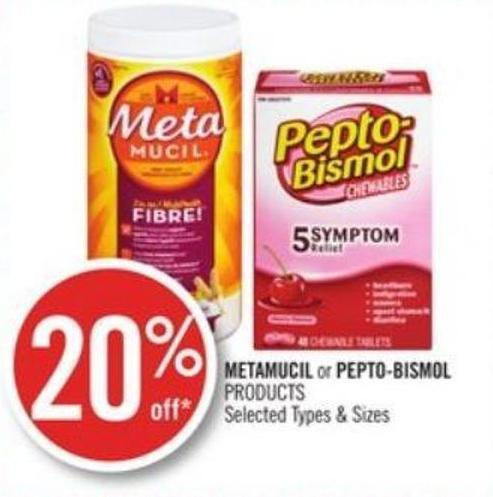 Metamucil or Pepto-bismol Products