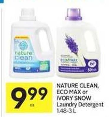 Nature Clean - Eco Max or Ivory Snow Laundry Detergent