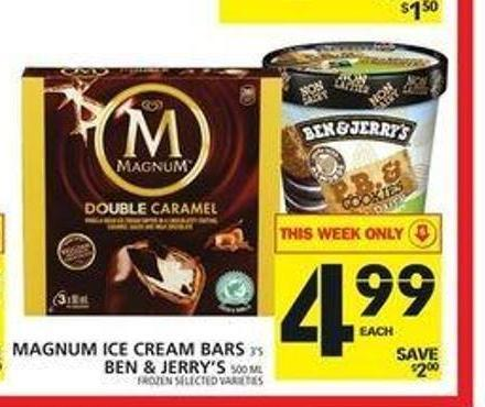 Magnum Ice Cream Bars Or Ben & Jerry's
