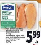 Maple Leaf Prime Raised Without Antibiotics Fresh Chicken Breast Value Pack