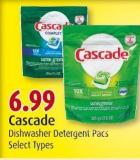 Cascade Dishwasher Detergent Pacs