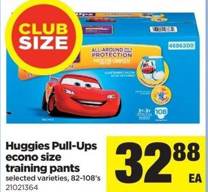 Huggies Pull Ups Econo Size Training Pants - 82-108's