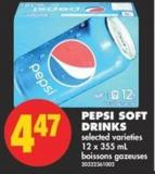 Pepsi Soft Drinks - 12 X 355 mL
