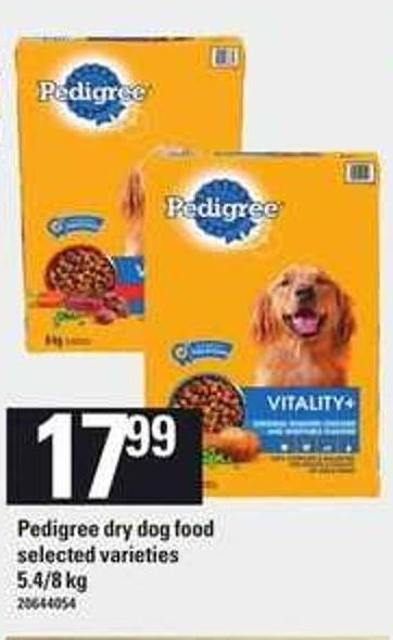 Pedigree Dry Dog Food.
