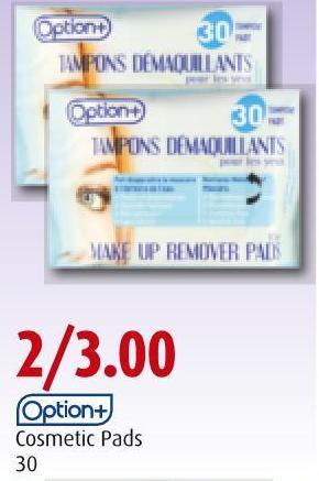 Option+   Cosmetic Pads   30