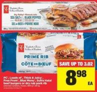 PC - Loads Of - Thick & Juicy - Free From - Blue Menu - Sufra Halal Beef Burgers Or Dry Rub Pork Rib - 680 G-1.36 Kg