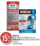 Benylin Sore Throat Lozenges (20's) Homeocan Real Relief Cough Syrup (100 Ml)