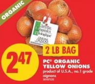 PC Organic Yellow Onions - 2 Lb Bag