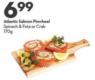 Atlantic Salmon Pinwheel Spinach & Feta or Crab 170g
