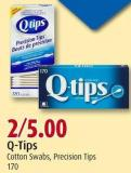 Q-tips Cotton Swabs - Precision Tips 170