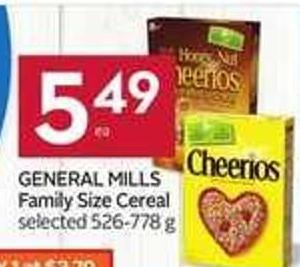 General Mills Family Size Cereal - 40 Air Miles Bonus Miles